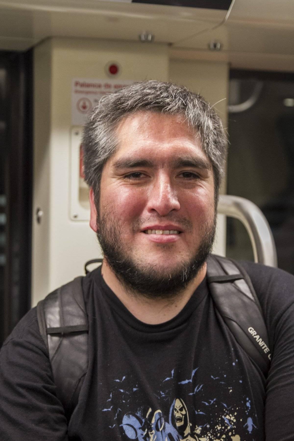 Claudio González, pasajero que se maravilló con la vista de tren