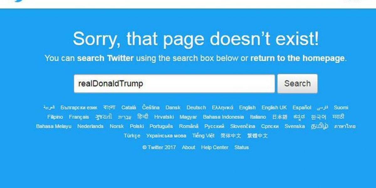 Suspenden twitter de Donald Trump... por 11 minutos