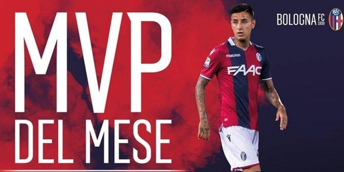 Saca la cara por Chile: Pulgar está en su mejor momento y fue elegido jugador del mes en Bologna