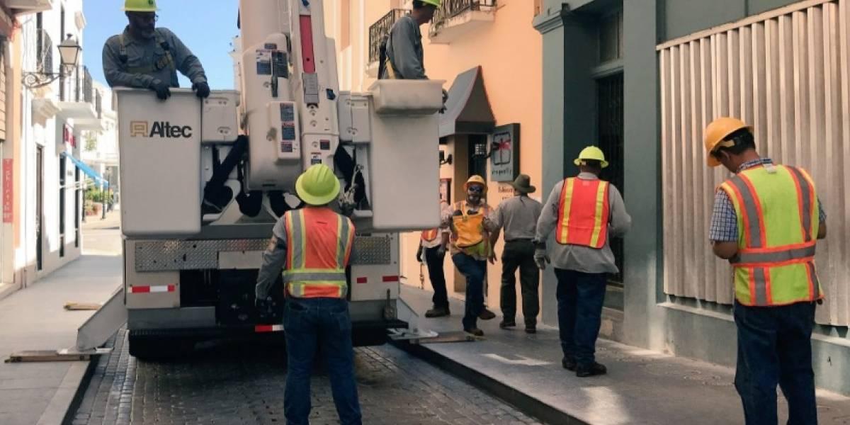 Pronto restablecimiento eléctrico en el Viejo San Juan