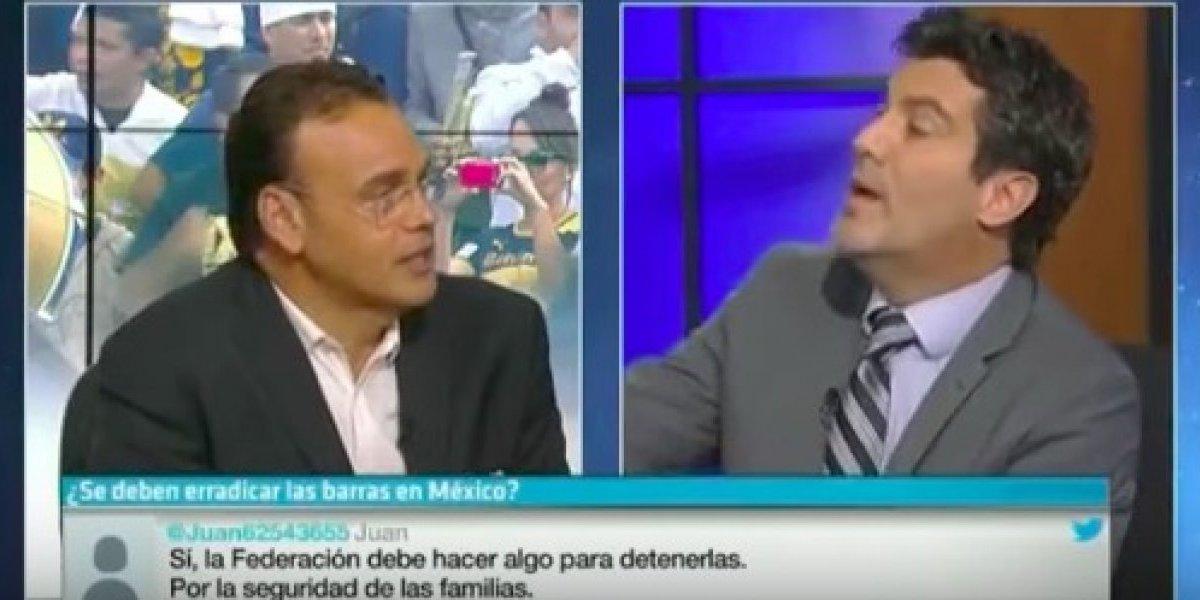 'Yo no le temo a aficionados de Pumas ni a ti': Faitelson encaró a De Anda