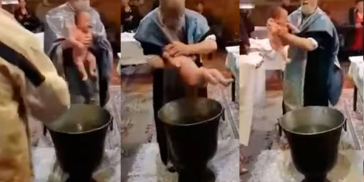 Sacerdote ultrajó a un bebé mientras lo bautizaba