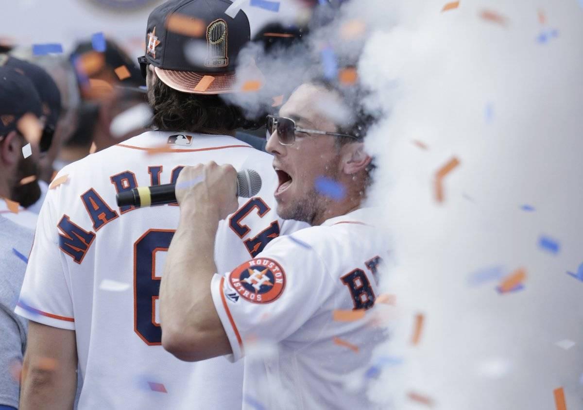 Ganaron la Serie Mundial y celebran los Astros Getty Images