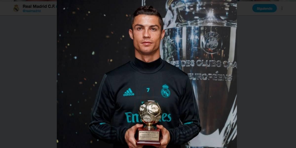 Recibe Cristiano el premio al mejor goleador del mundo