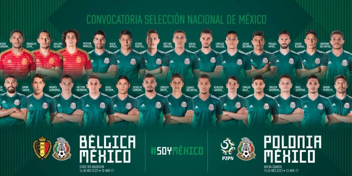 Osorio anuncia lista para amistosos del Tri contra Bélgica y Polonia