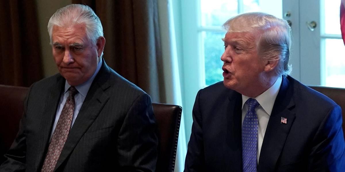 Donald Trump diz 'não ter certeza' de que Rex Tillerson continuará como secretário de Estado