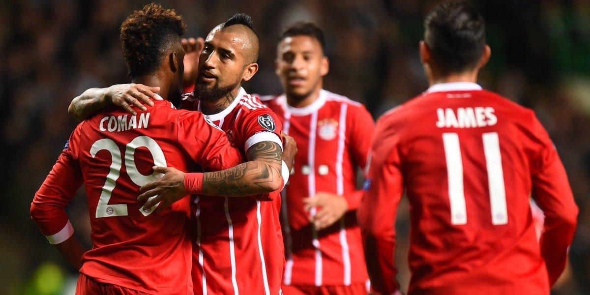 Vidal jugó un suspiro en el sólido triunfo del Bayern sobre el Dortmund por el clásico alemán