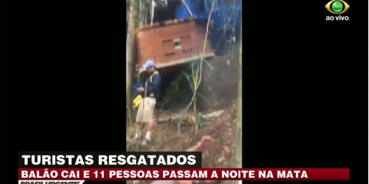 Balão cai na serra da Mantiqueira, em São Paulo