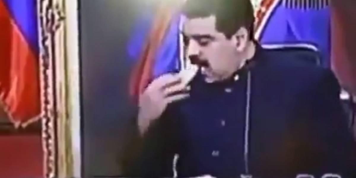 Critican a presidente Maduro por comer en vivo mientras aumenta el hambre en Venezuela
