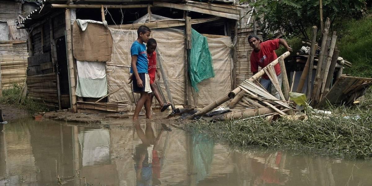 Informe de damnificados en el suroeste de Colombia por lluvias