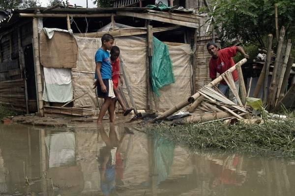 Damnificados en el suroeste de Colombia por lluvias