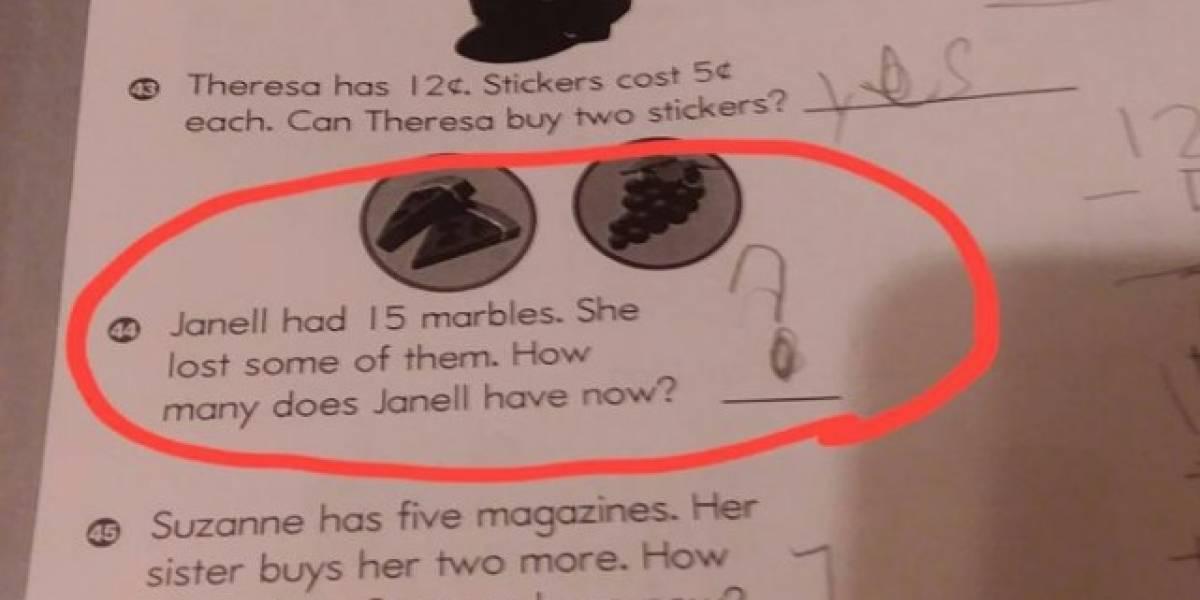 La tarea de matemáticas que una niña de 6 años no pudo resolver y que confundió a miles en Internet