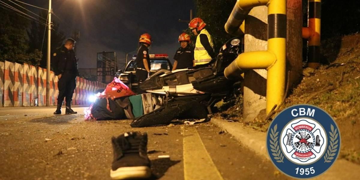 Mueren cinco personas en accidentes en motocicleta