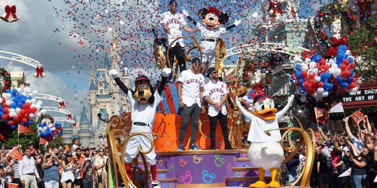 Astros de Houston celebran su campeonato en Disney