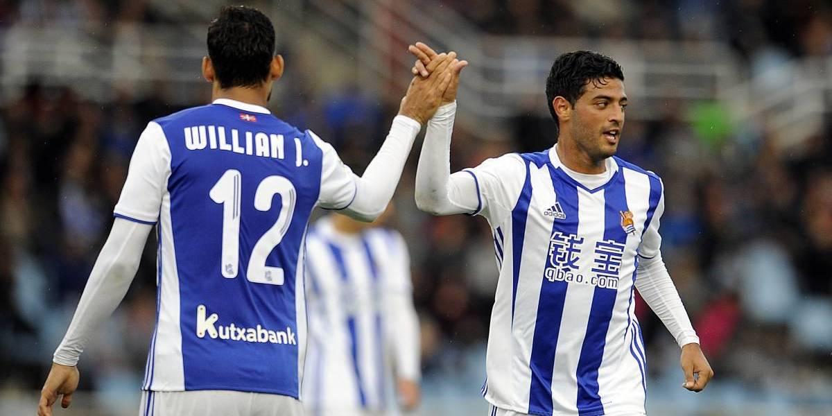 Con Vela en el terreno de juego, Real Sociedad doblegó a Eibar