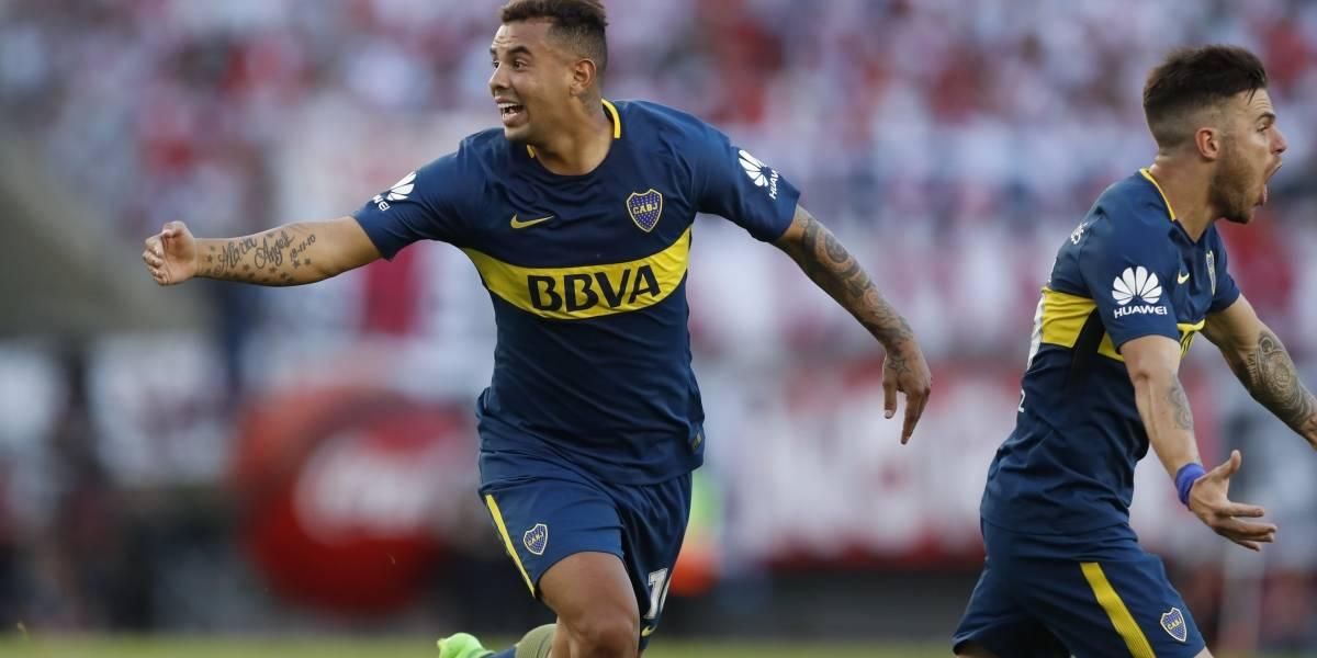Golazo de Cardona le da la ventaja a Boca en el superclásico contra River