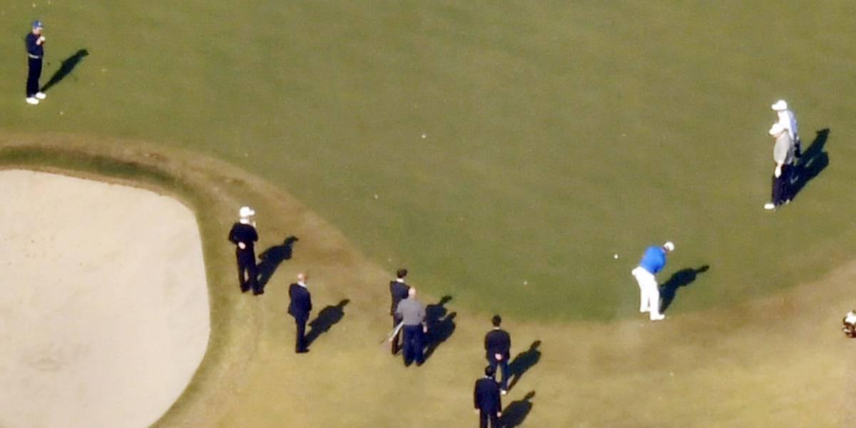 Trump llega a Japón y juega golf con Shinzo Abe