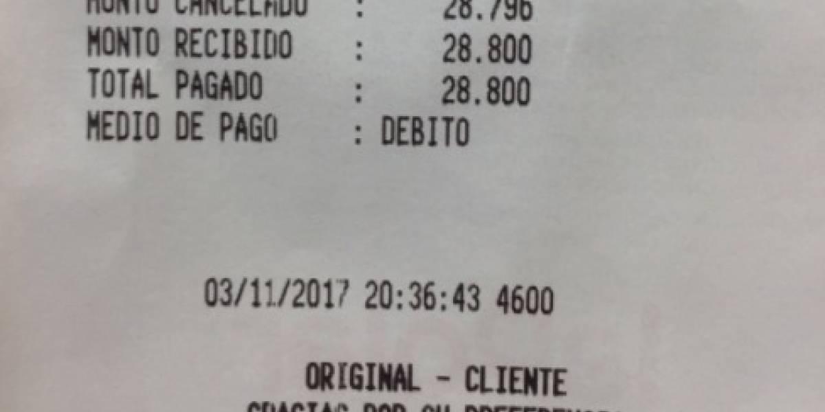 Parece que no entendieron la Ley: cliente acusa a multitienda de aplicar redondeo en pago de cuenta con tarjeta