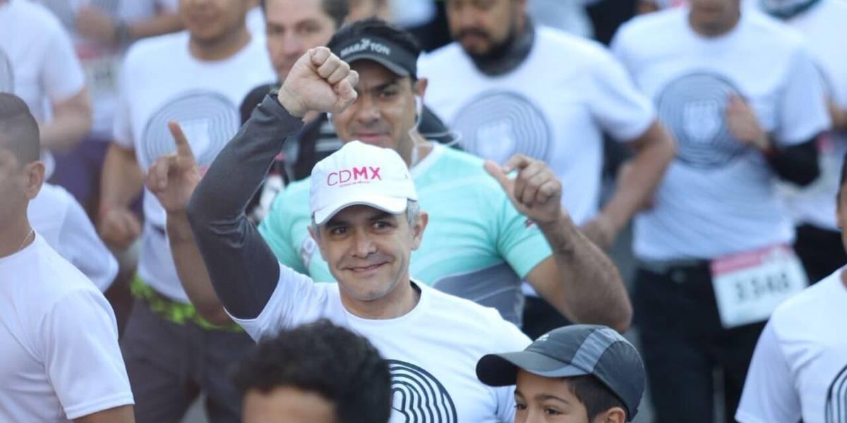 Mancera corre para recaudar fondos para apoyar a afectados del 19-S