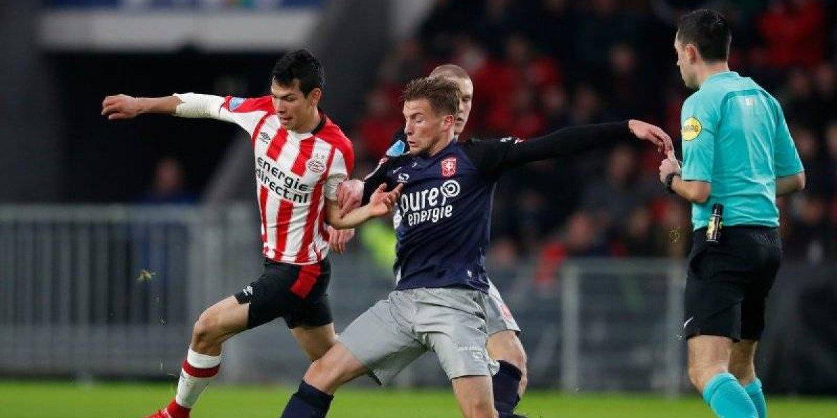 PSV consigue dolorosa victoria ante el Twente, con 'Chucky' Lozano de titular
