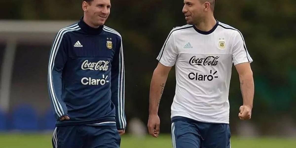 Agüero se convirtió en el máximo goleador del City y recibió me Messi