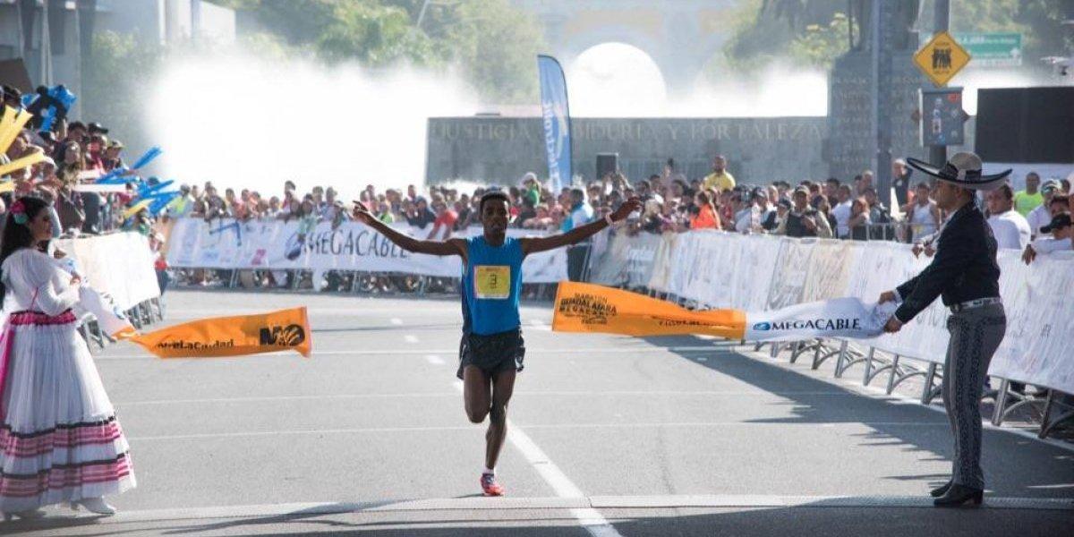 Corredor etíope conquista el Maratón Internacional de Guadalajara
