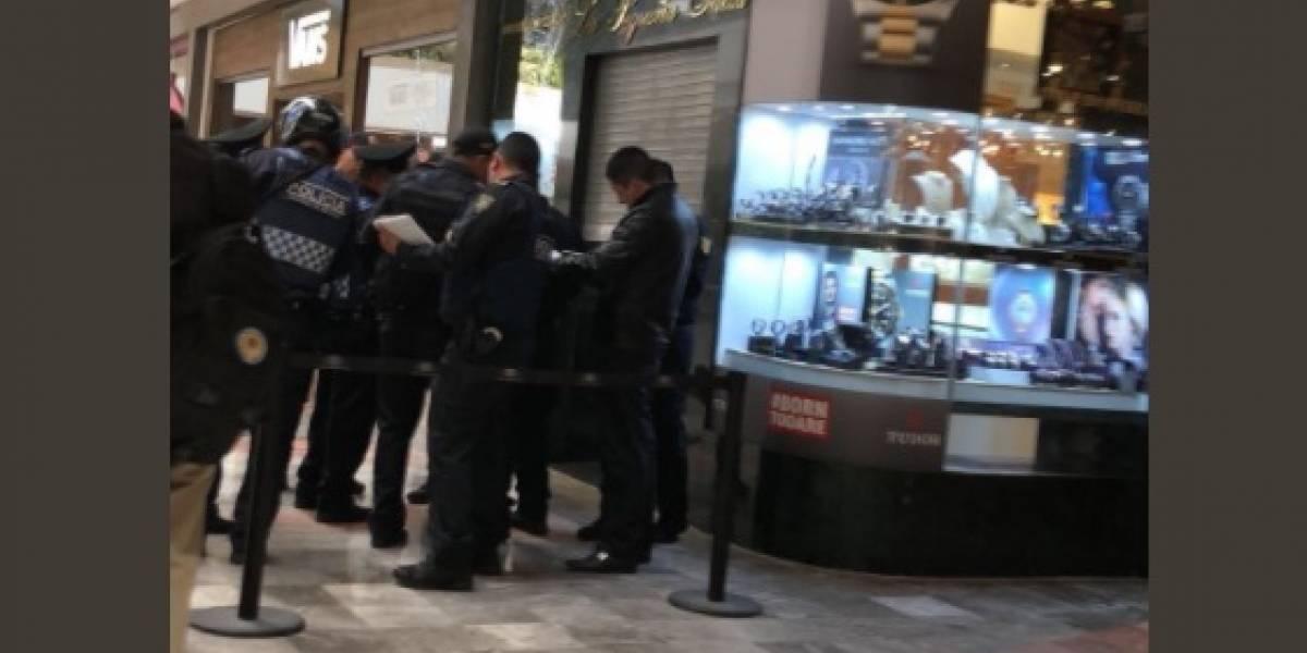 Se registra balacera en Centro Comercial Santa Fe