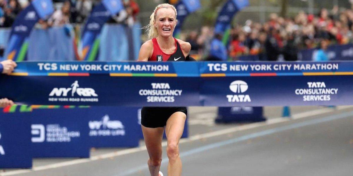 Estadounidense gana prueba femenil del Maratón de NY por primera vez en 40 años