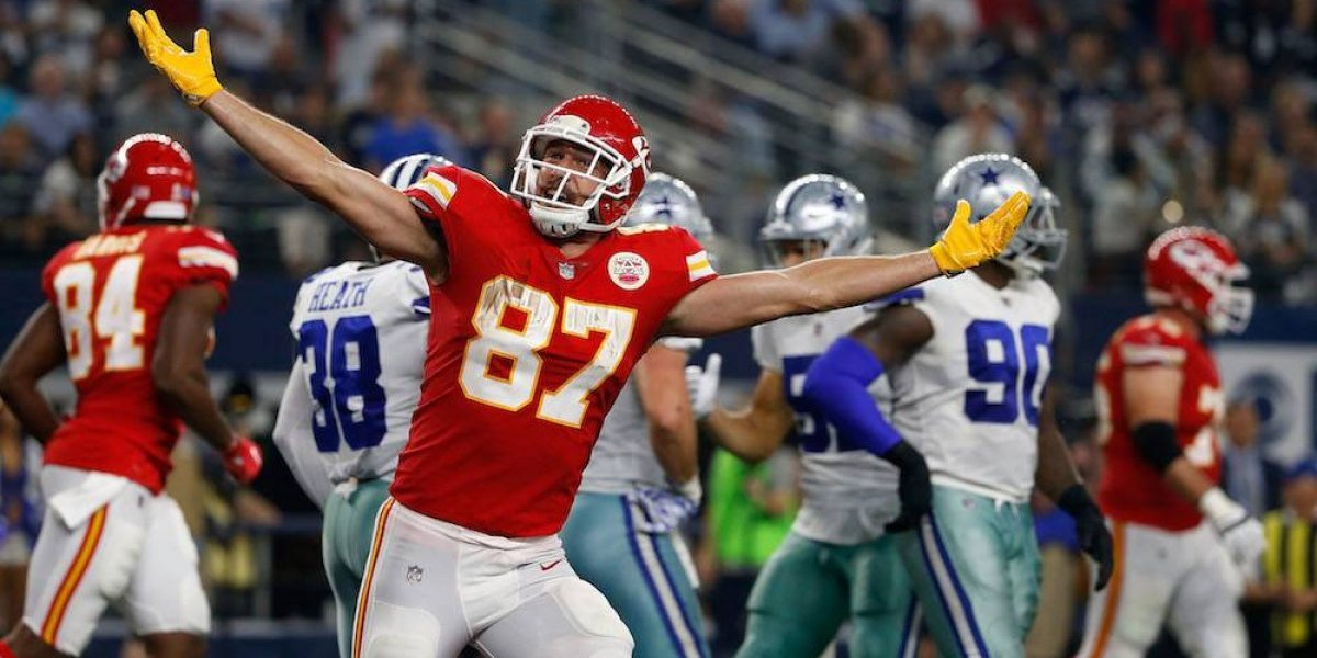 VIDEO: La original manera de celebrar un touchdown de Travis Kelce