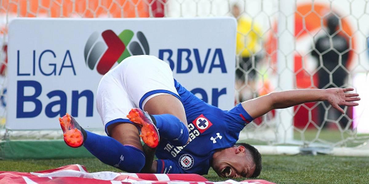 Malas noticias para Cruz Azul, Martín Rodríguez es baja ante Veracruz