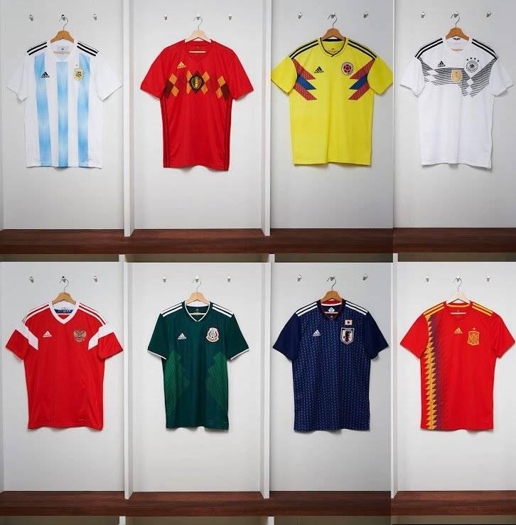 Camisas da Adidas para a Copa 2018 Reprodução/Footy Headlines
