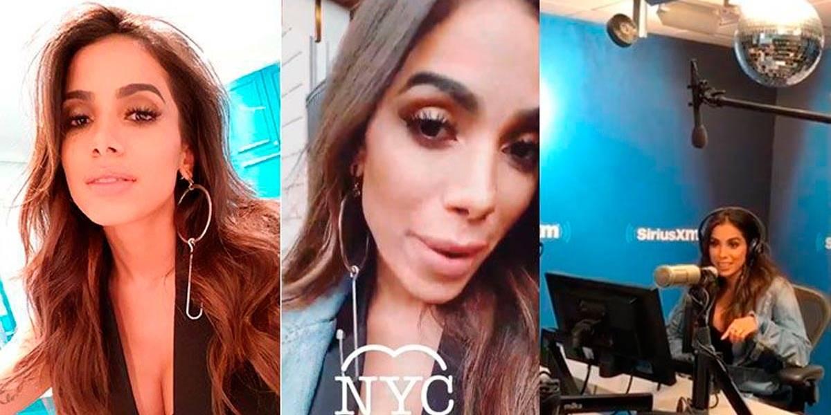 Em NY, Anitta é entrevistada por rádio americana