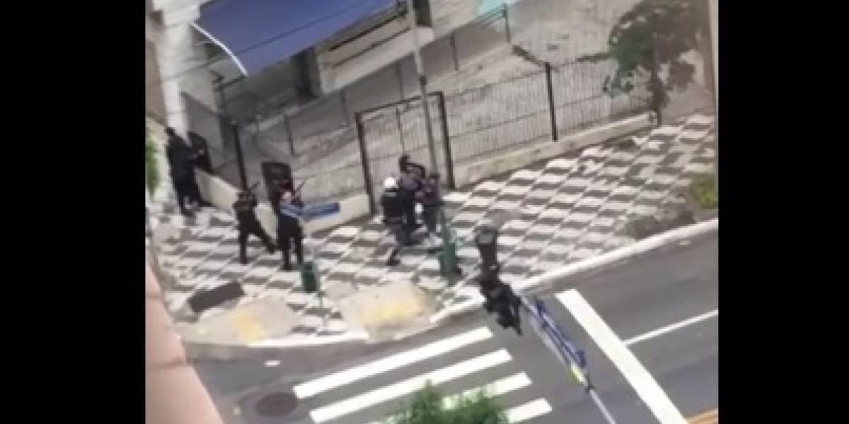 Bando tenta assaltar agência dos Correios na av. Angélica; polícia frustra ação