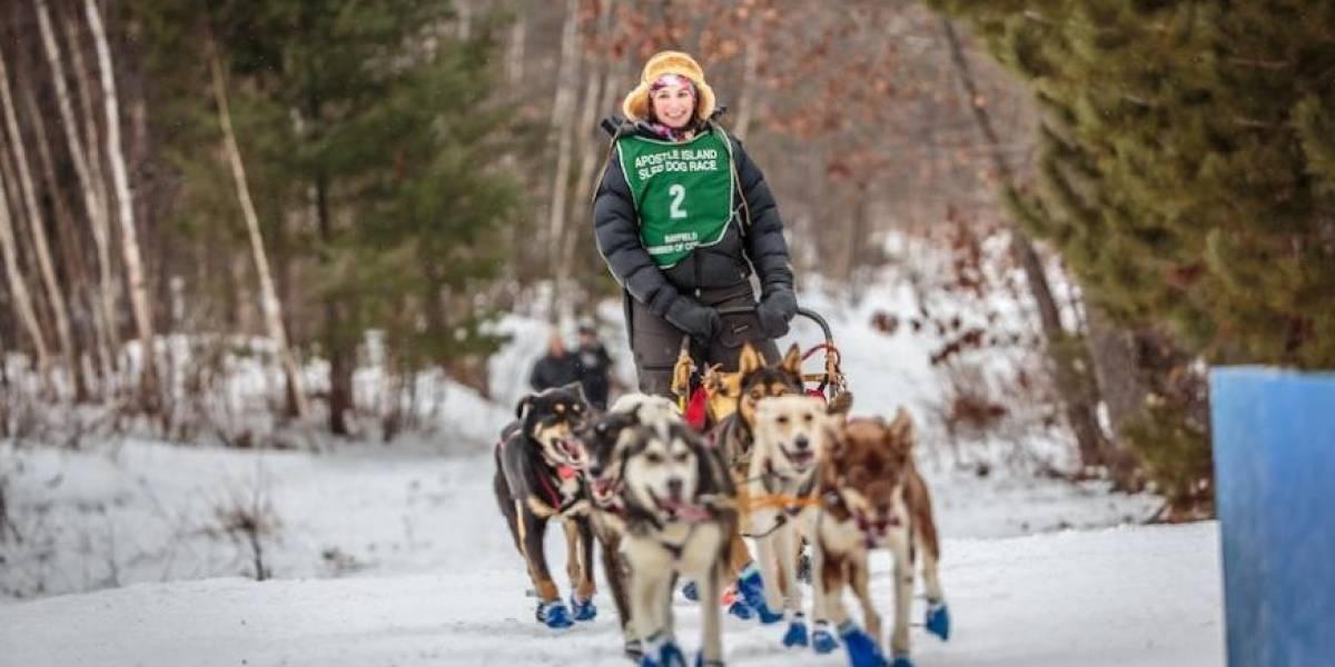Este equipo profesional de trineos de perros te llevarán las postales a tu casa