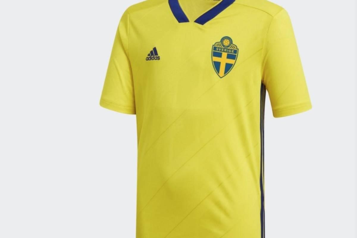 Si Suecia avanza en el repechaje usará esta camiseta en Rusia 2018