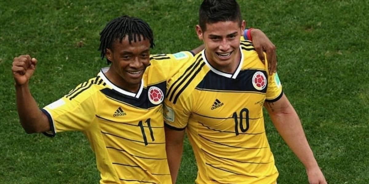 (Fotos) Así se ven James y Cuadrado con la nueva camiseta de la Selección Colombia