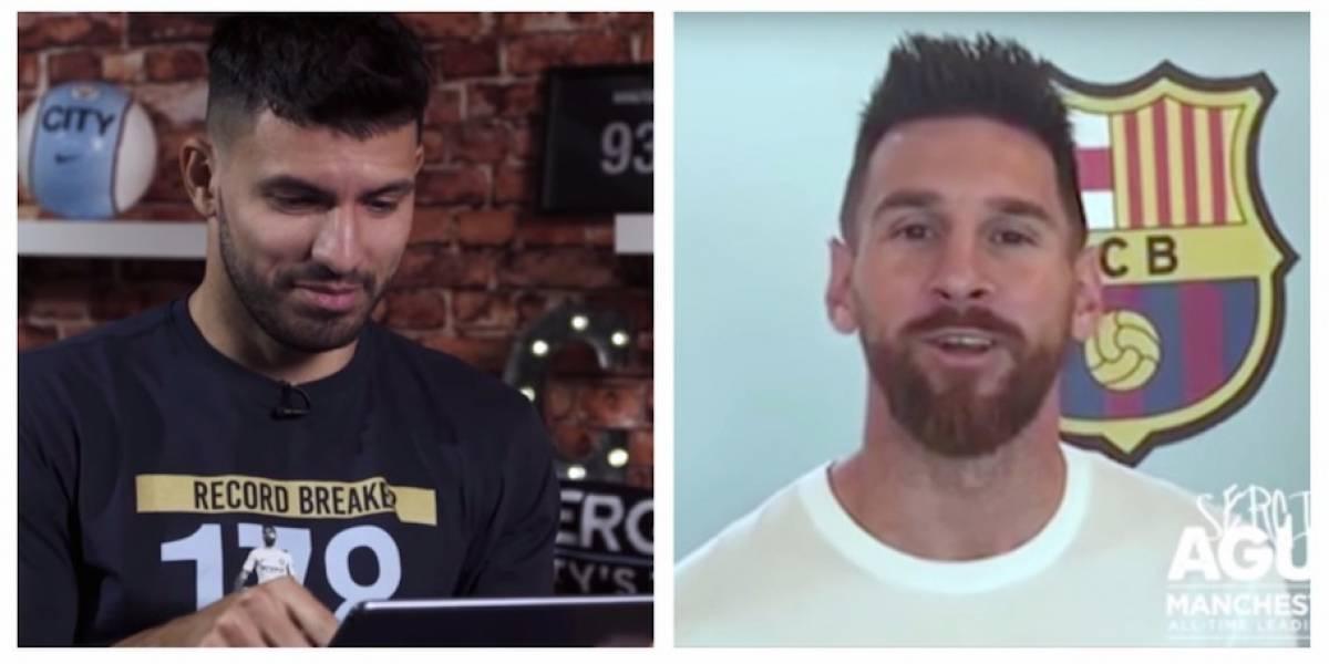 """VIDEO. Messi sorprende al """"Kun"""" Agüero con una emotiva felicitación"""