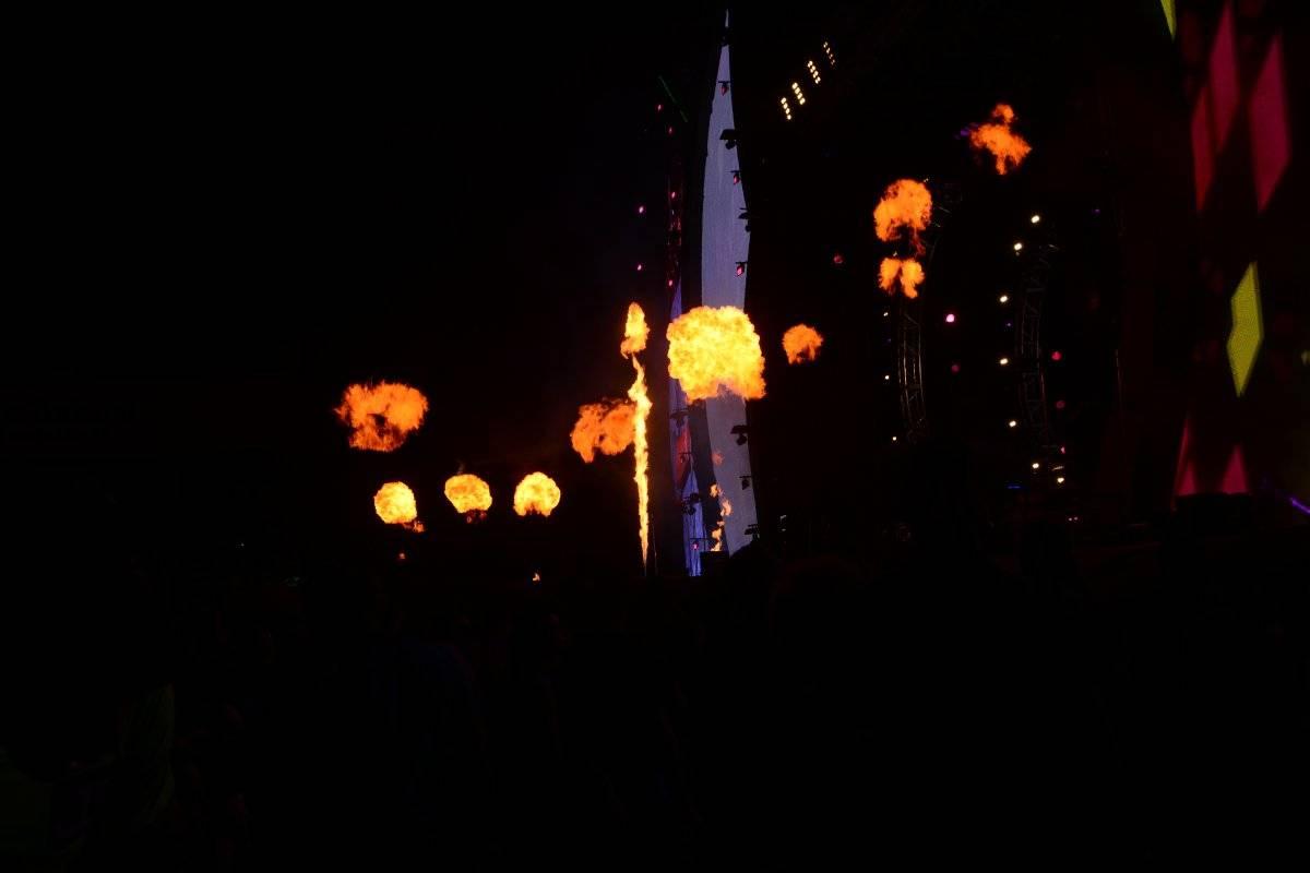 fuegos artificiales en el Festival Presidente