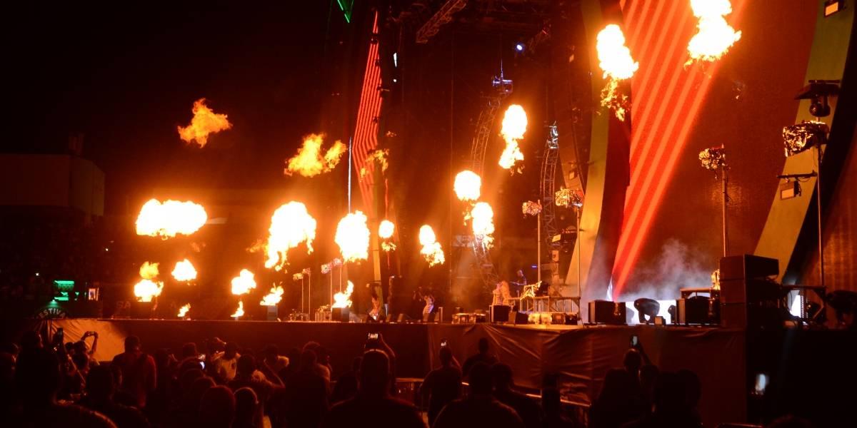 Impactante espectáculo de fuegos artificiales en el Festival Presidente
