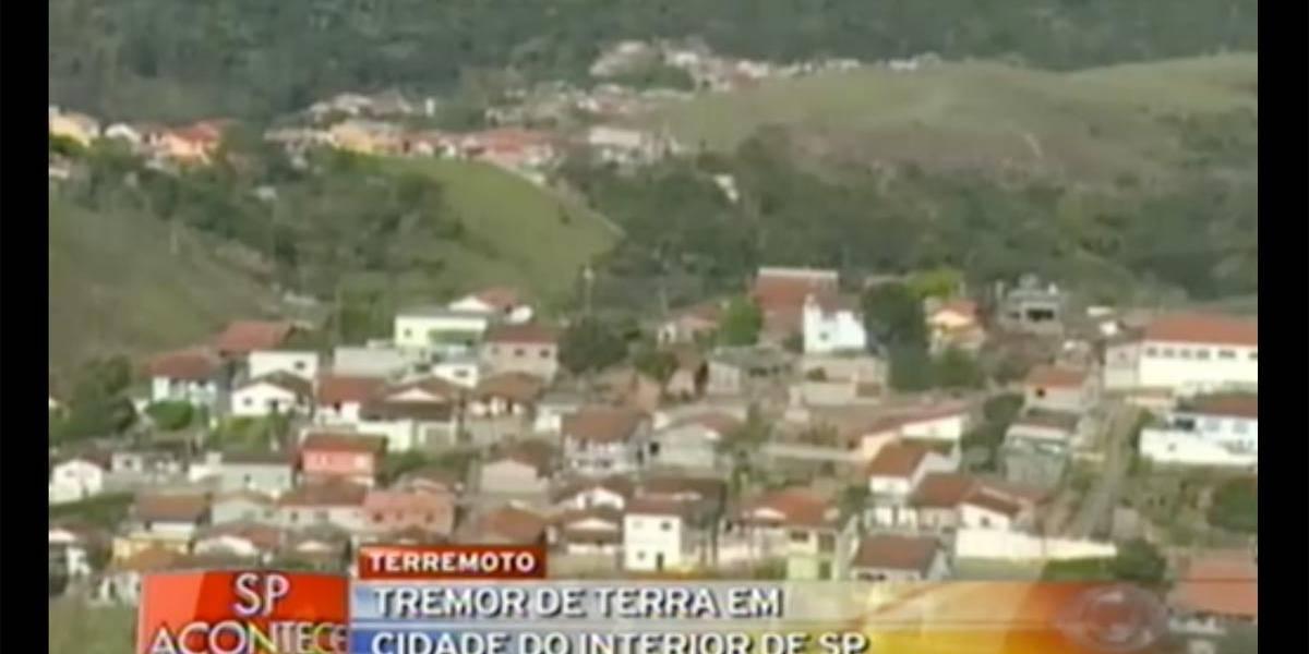 Tremor de 2,5 graus assusta moradores no interior de São Paulo