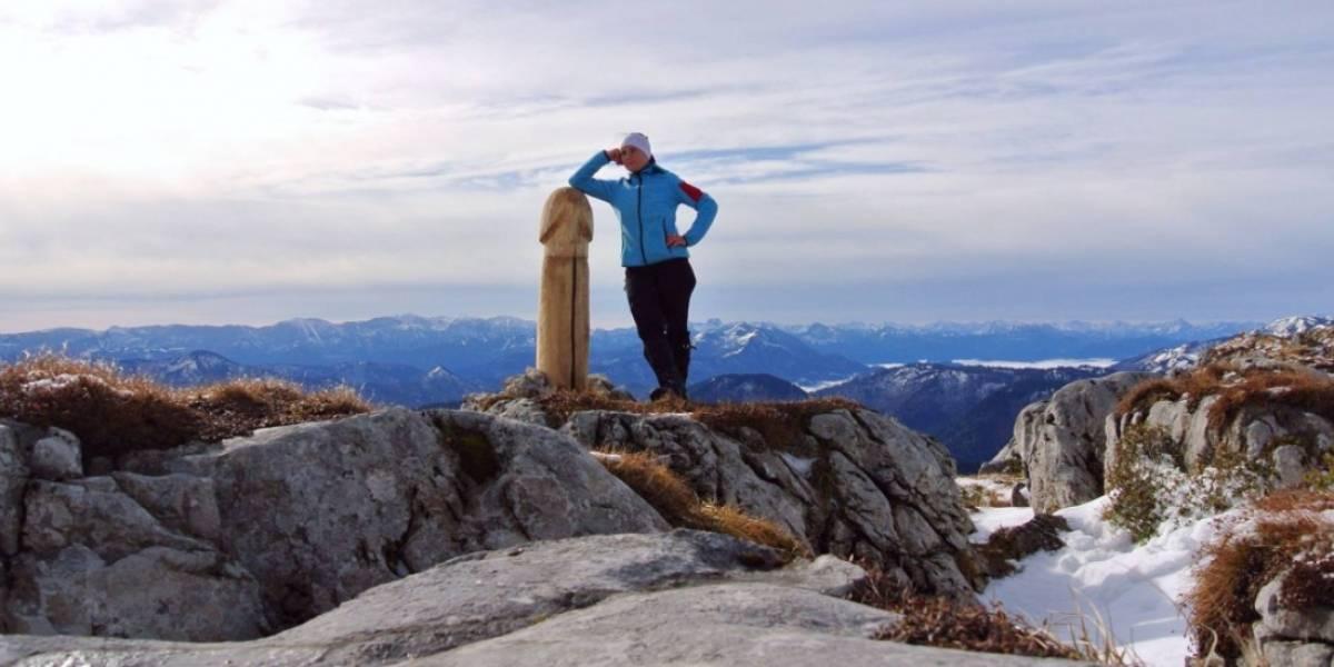 Sospechan del Indio Pícaro: subió una cumbre de dos mil metros y al llegar a la cima se encontró con una particular escultura
