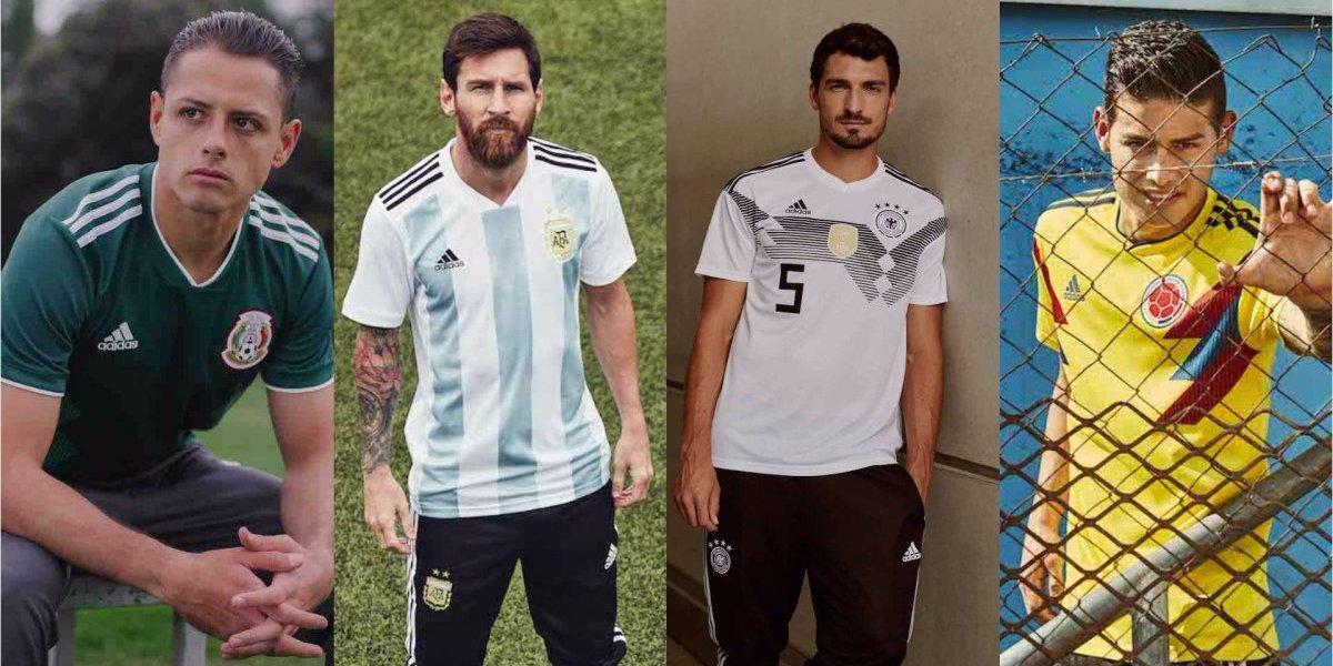 Presentan uniformes oficiales de algunas selecciones para el Mundial de Rusia