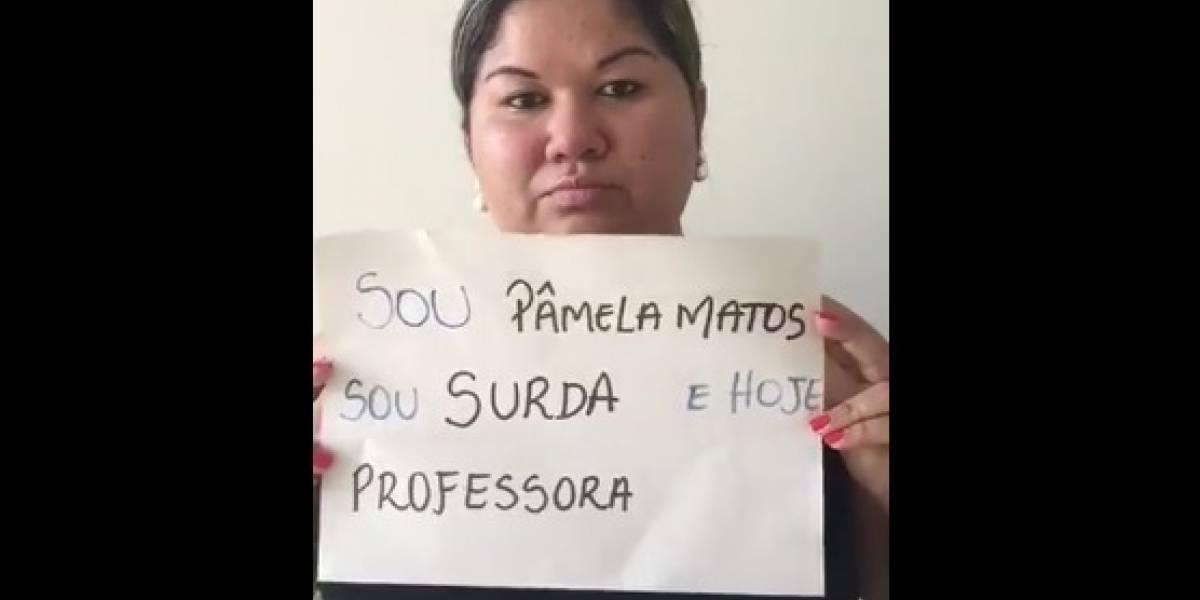 Professora surda faz vídeo de desabafo após tema da redação do Enem