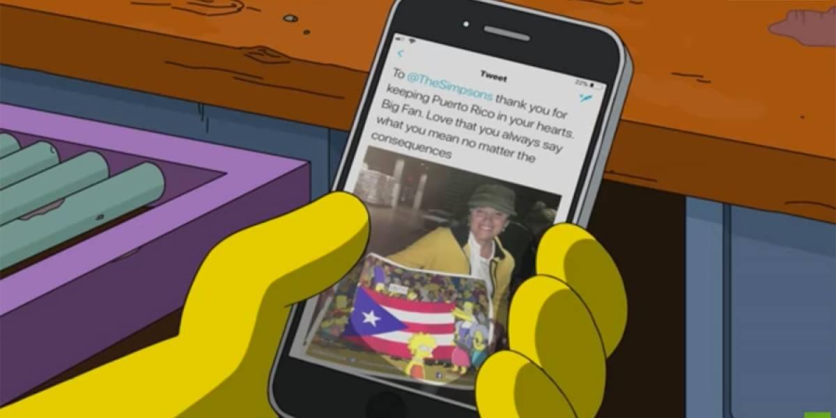 """VIDEO. """"Los Simpson"""" prometen ayudar a Puerto Rico tras huracán María"""