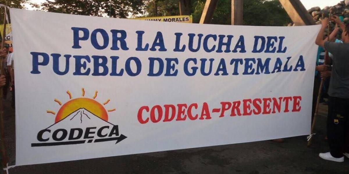 Manifestantes de Codeca realizan bloqueos en el interior del país