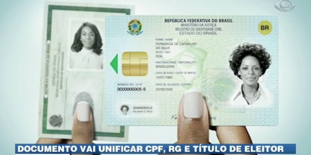 Documento vai unificar CPF, RG e título de eleitor
