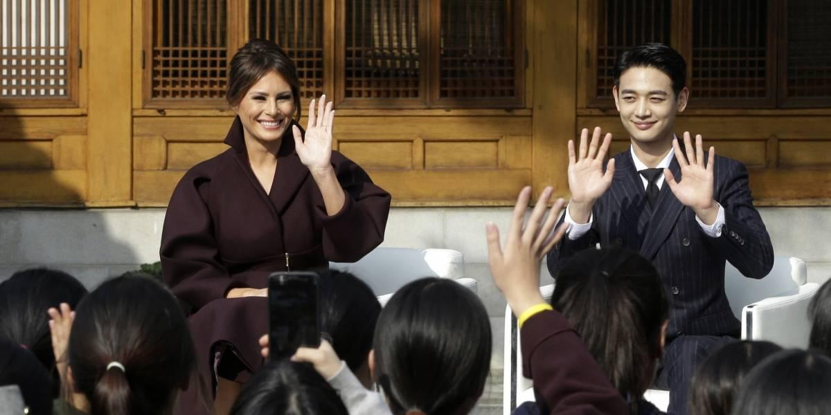 Video de Melania Trump y jóvenes surcoreanos se hace viral