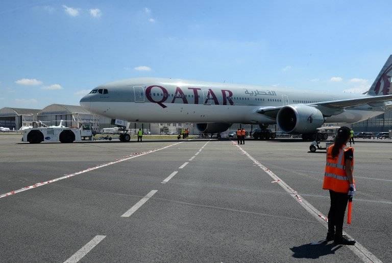 Avión de Qatar Airways