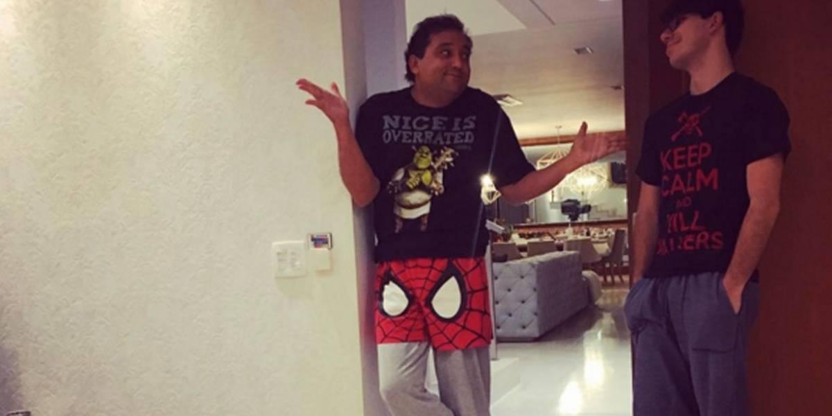 Geraldo Luis faz o filho 'passar vergonha' com roupas divertidas;veja foto