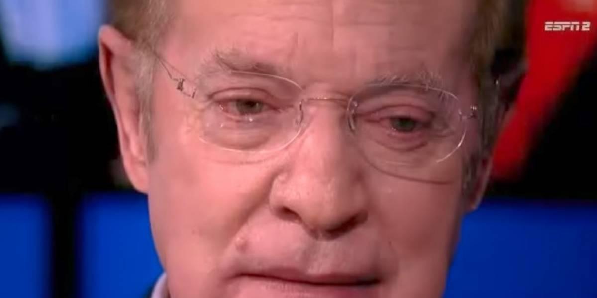 VIDEO: José Ramón llora en su festejo por 10 años en ESPN
